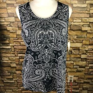 Basic Editions Paisley Tank Too SZ L